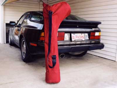 The Rocky Mountain Alphorns hiker's case - Porsche not included